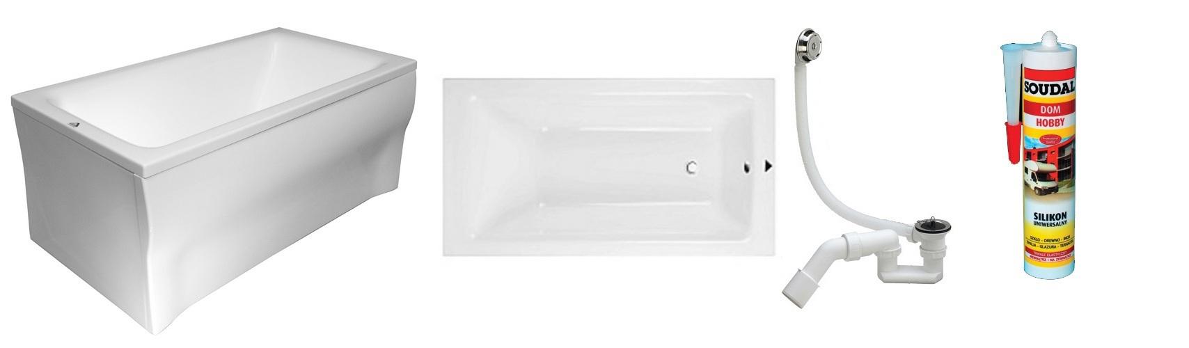 badewanne wanne rechteck acryl 120 x 70 cm sch rze ablauf. Black Bedroom Furniture Sets. Home Design Ideas