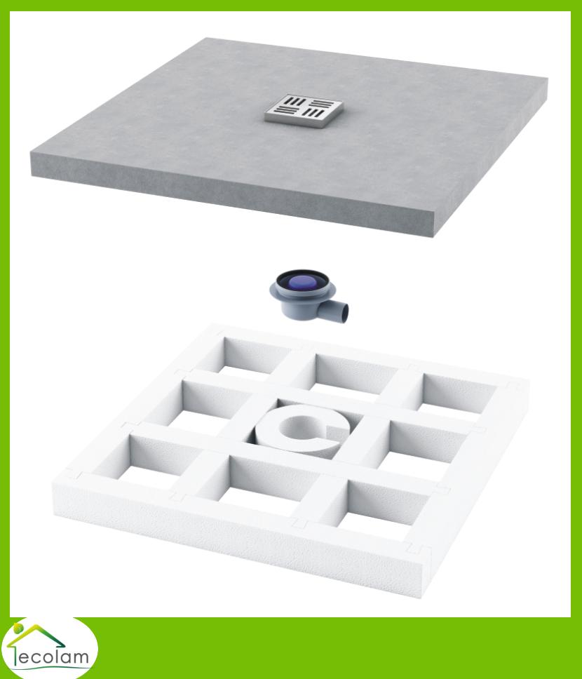duschwanne duschboard duschelement viereck 100 x 100 cm befliesbar bodengleich. Black Bedroom Furniture Sets. Home Design Ideas