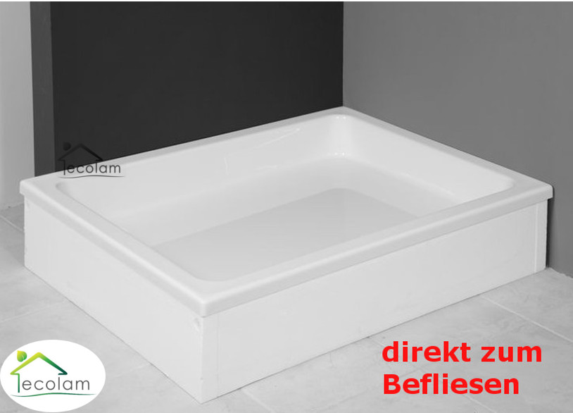 duschwanne duschtasse rechteck 100x80 120 x 90 x 26 cm dusche acryl grawello ebay. Black Bedroom Furniture Sets. Home Design Ideas