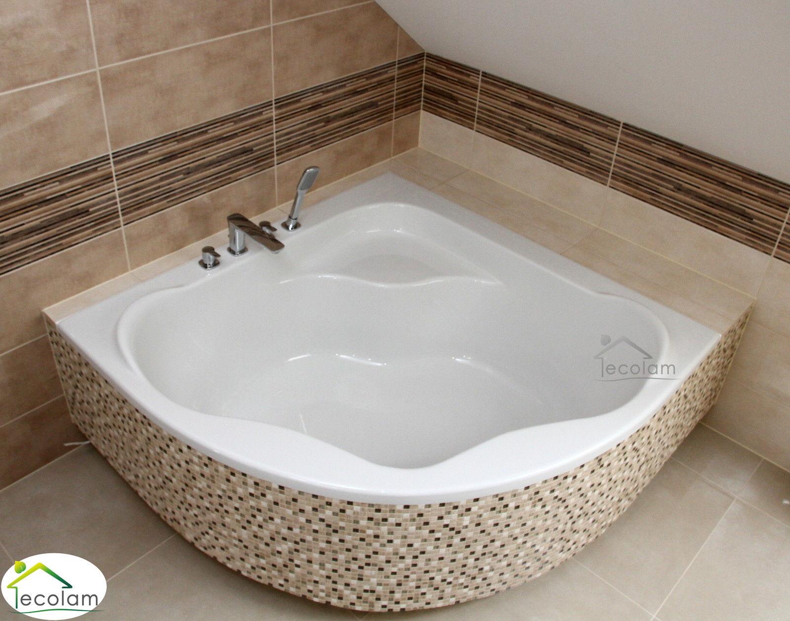 badewanne kleine wanne rechteck 100x65 110x70 cm sch rze ablauf silikon acryl ebay. Black Bedroom Furniture Sets. Home Design Ideas