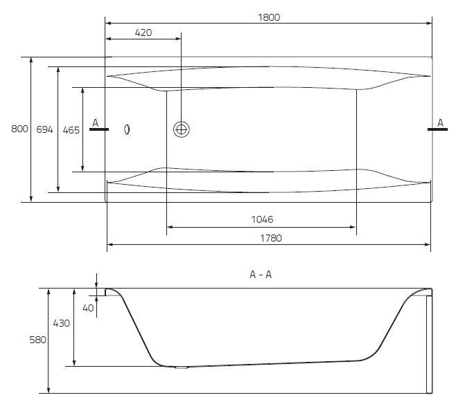 badewanne wanne rechteck 140 150 160 170 x 75 180 x 80 cm styroporsch rze ablauf ebay. Black Bedroom Furniture Sets. Home Design Ideas
